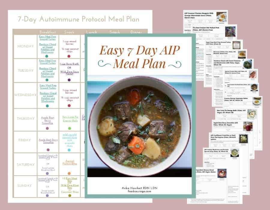 7 day aip meal plan