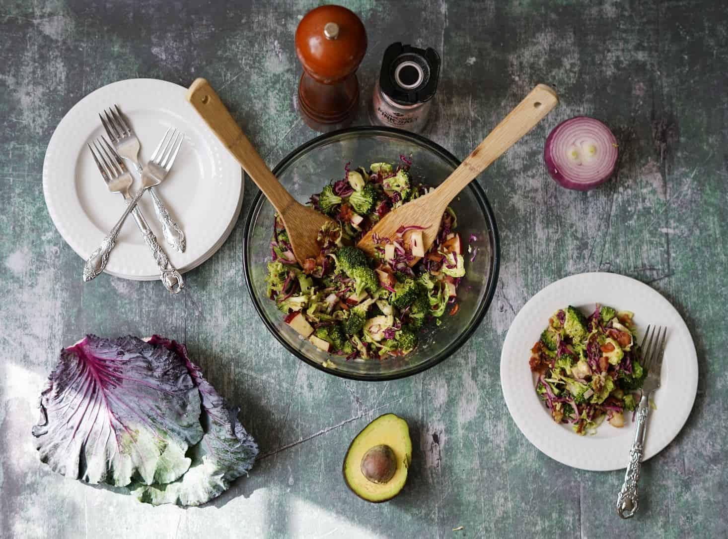 No Mayo Broccoli Salad Recipe Paleo Aip Vegan Option
