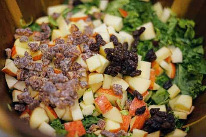 kale salad with apples