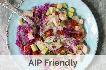 aip paleo chicken bacon cold noodle salad