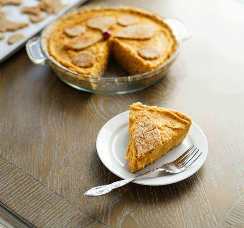 aip paleo vegan no bake pumpkin pie recipe with tigernut flour crust