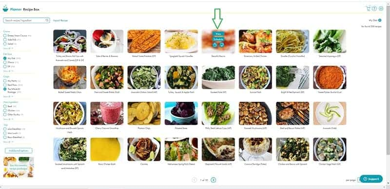 recipe box with save view thumbs up 800