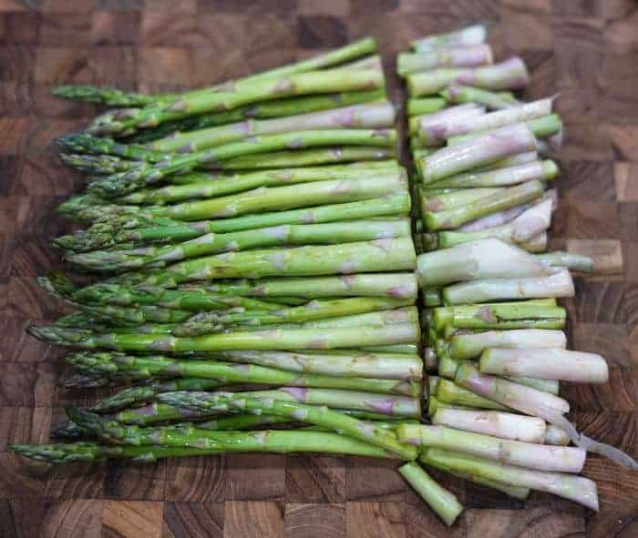 cut asparagus ends before air frying