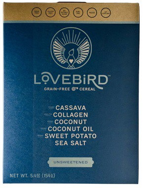 love bird unsweetened cereal
