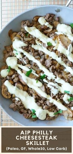 AIP Philly Cheesesteak Skillet